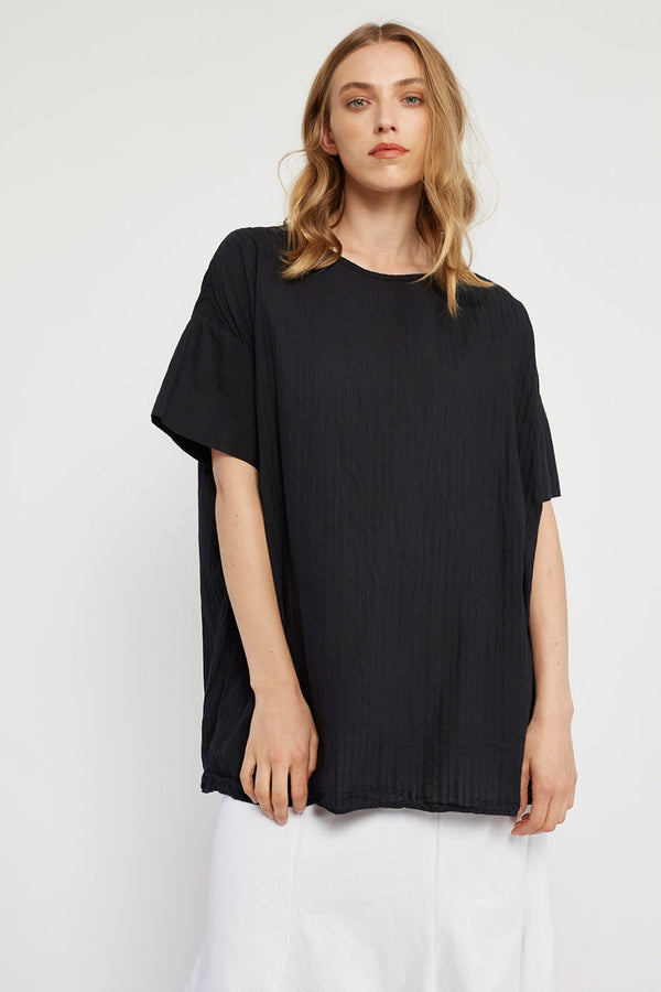 TEXTURED TOP - NOIR