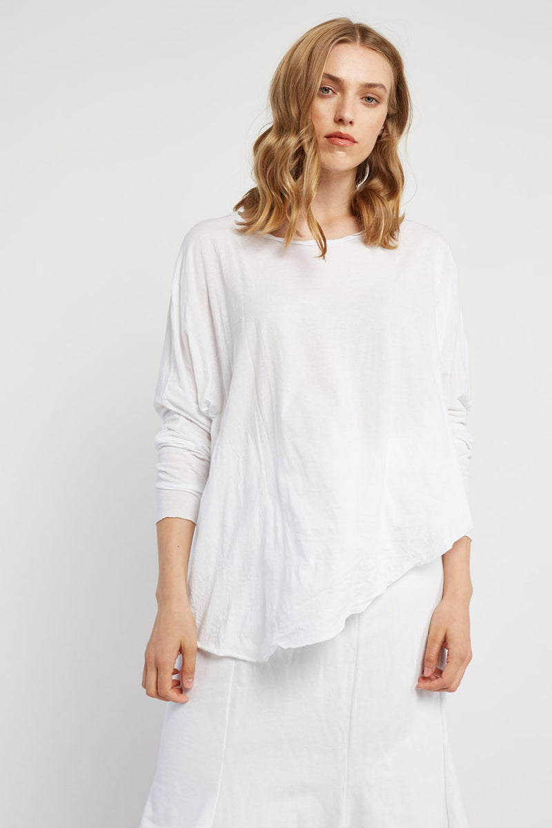 FAXI L/S TOP - BLANC