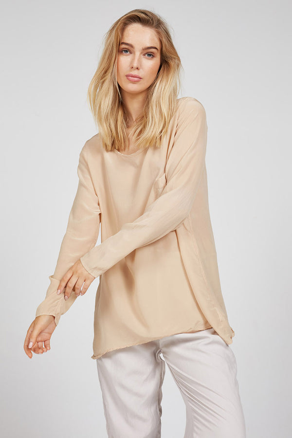 SLOUCHED TOP - BONE