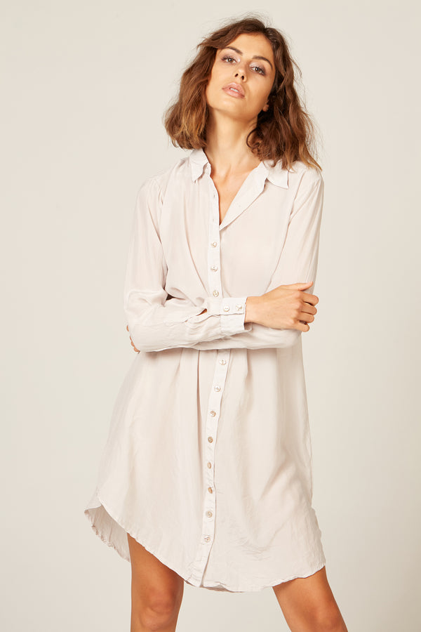 TRE SHIRT DRESS - STONE