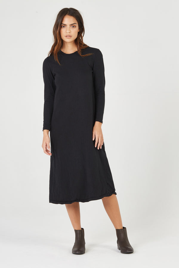 BOX STRAIGHT DRESS - NOIR
