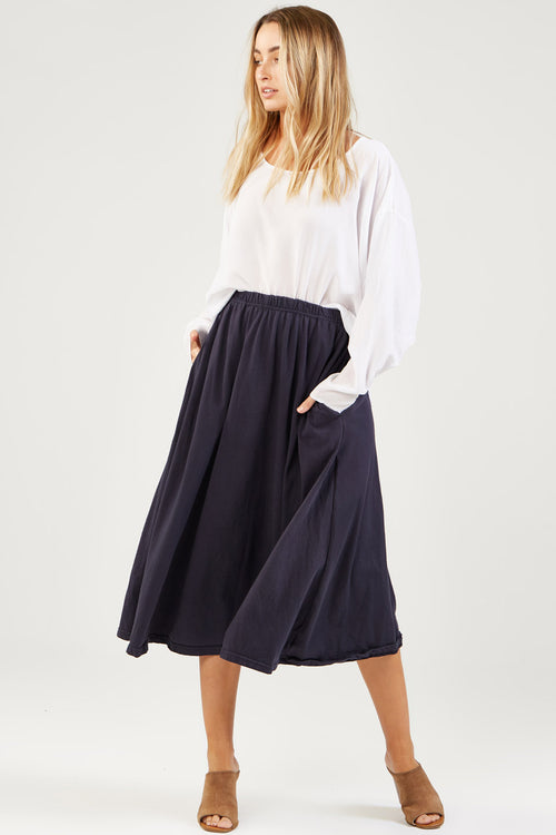 COCO SKIRT - BLUEY CHARCOAL