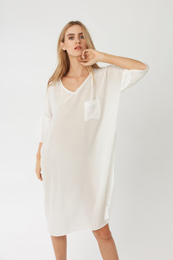 POCKET DRESS - BLANC