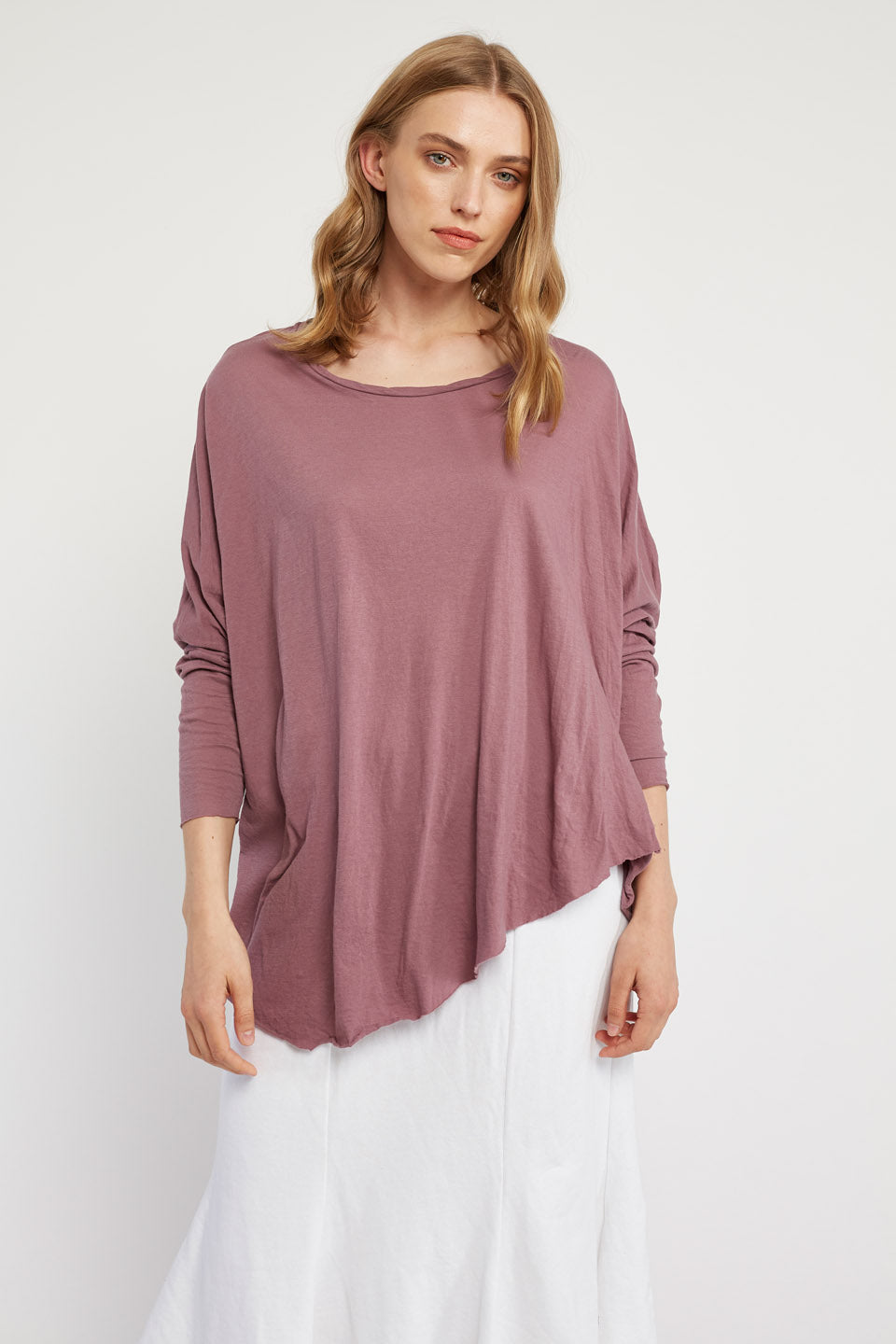 FAXI L/S TOP - PLUM