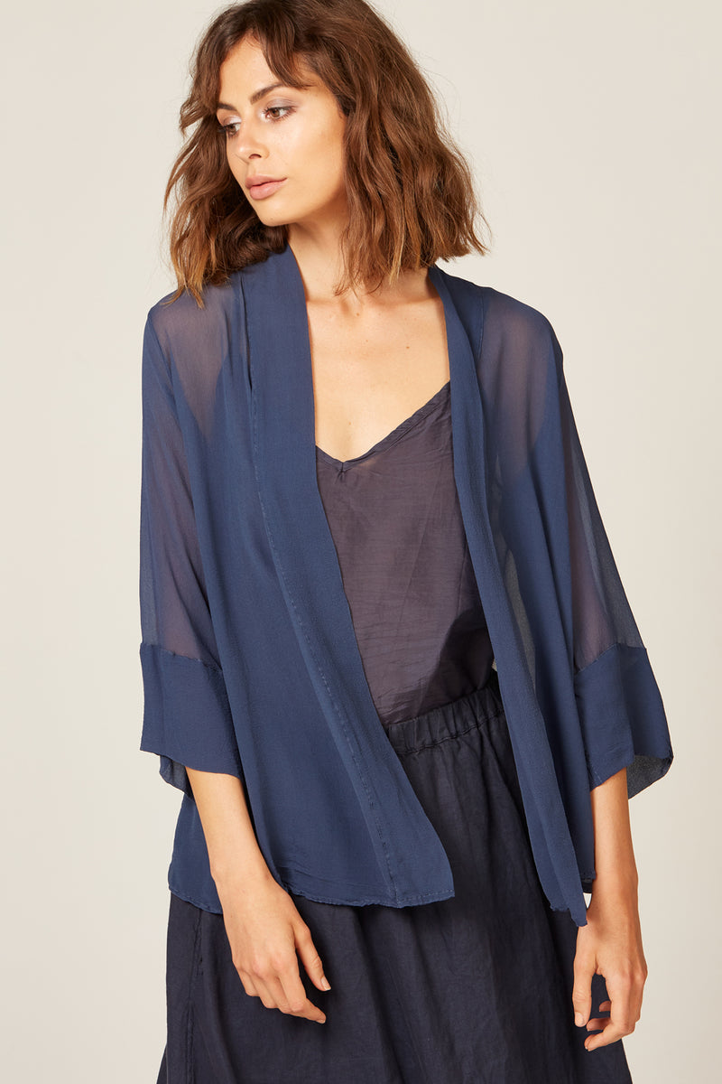 TALLOWS CARDI - WASHED NAVY