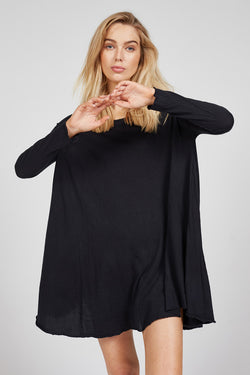 POP L/S TUNIC - NOIR