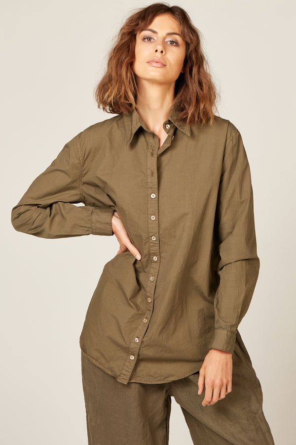 COCOON SHIRT - OLIVE (FINAL SALE)