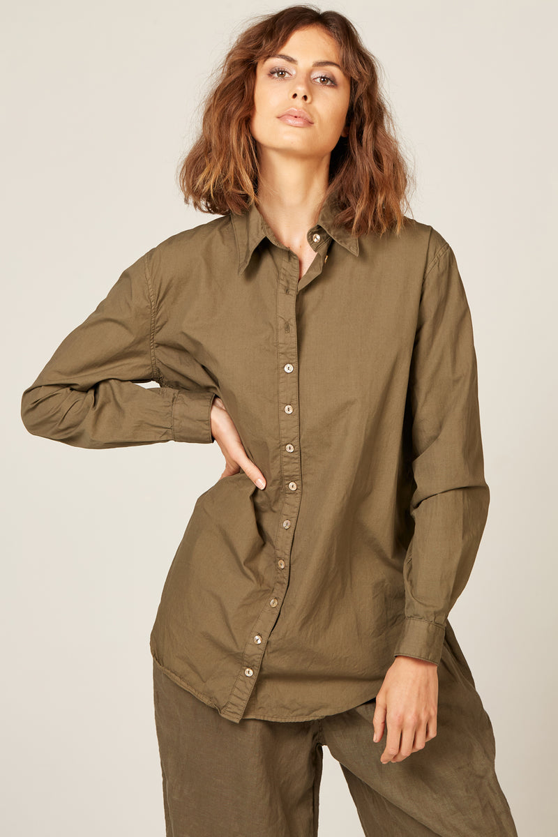 COCOON SHIRT - OLIVE
