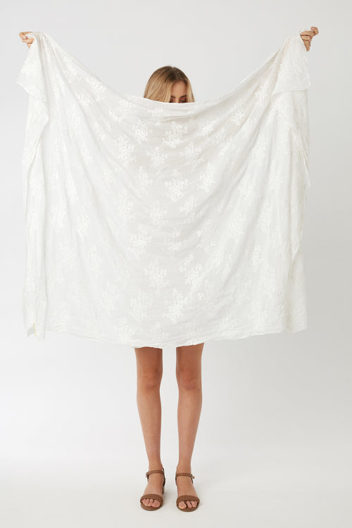 LA BEACH THROW - BLANC