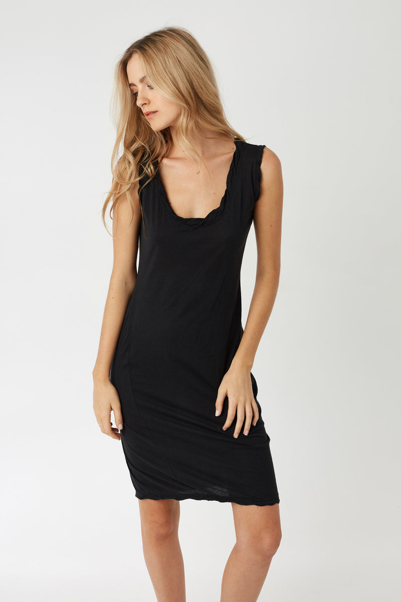 TWISTY TANK DRESS - NOIR