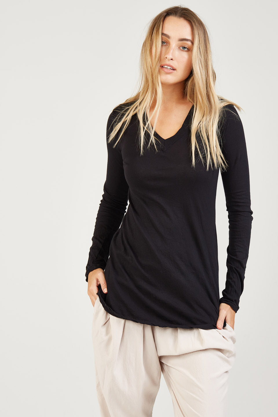 BASIC V NECK - NOIR