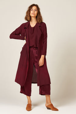 DUSTER COAT - BERRY