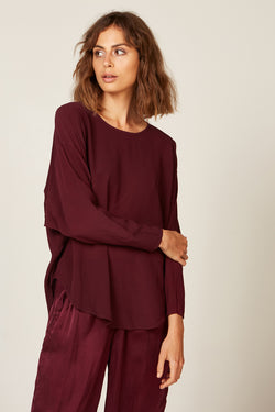 BATWING TOP - BERRY