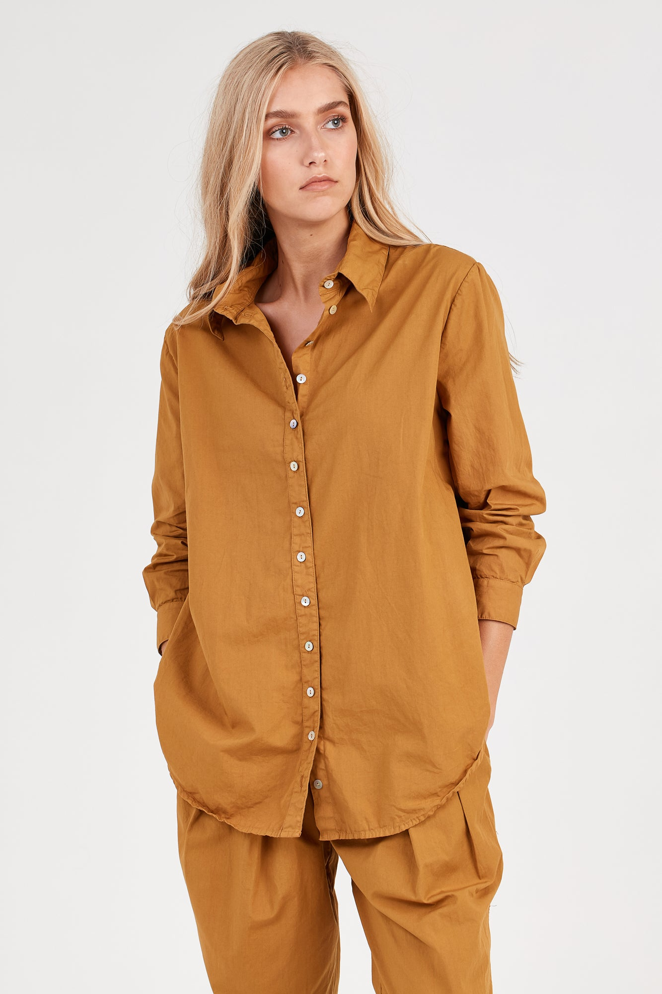 COCOON SHIRT - GOLDEN SUNSET