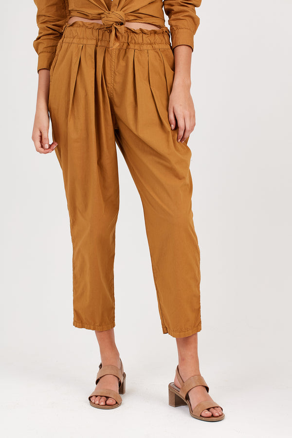 COCOON PLEATED SLACK - GOLDEN SUNSET