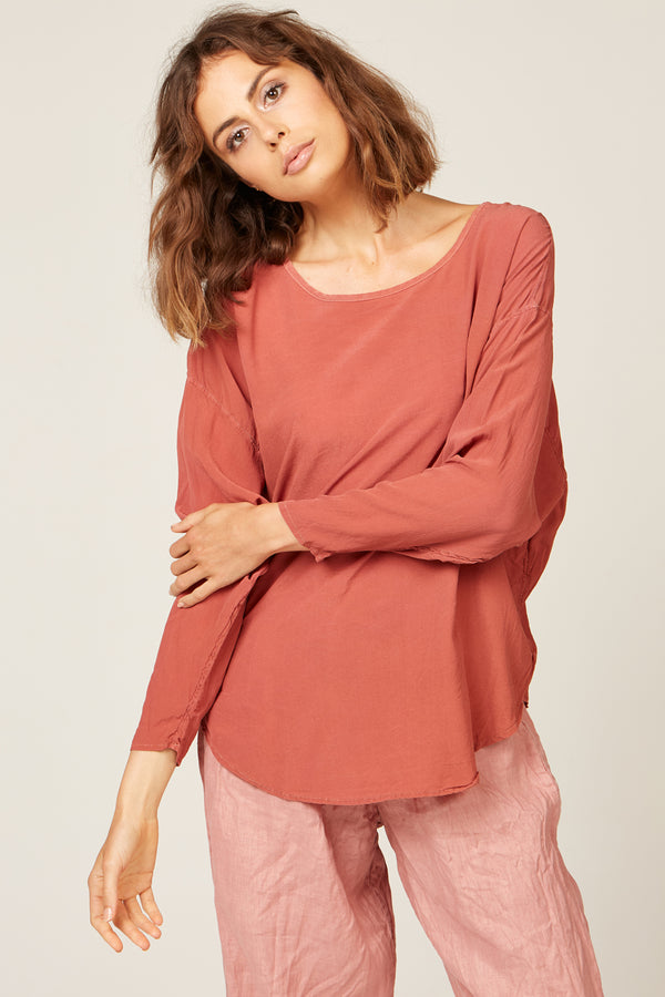 BATWING TOP - ROSE