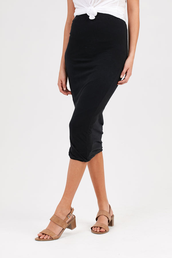 WEN TUBED SKIRT - NOIR (FINAL SALE)