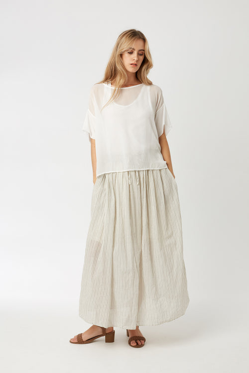 REGI SHEER TOP - BLANC