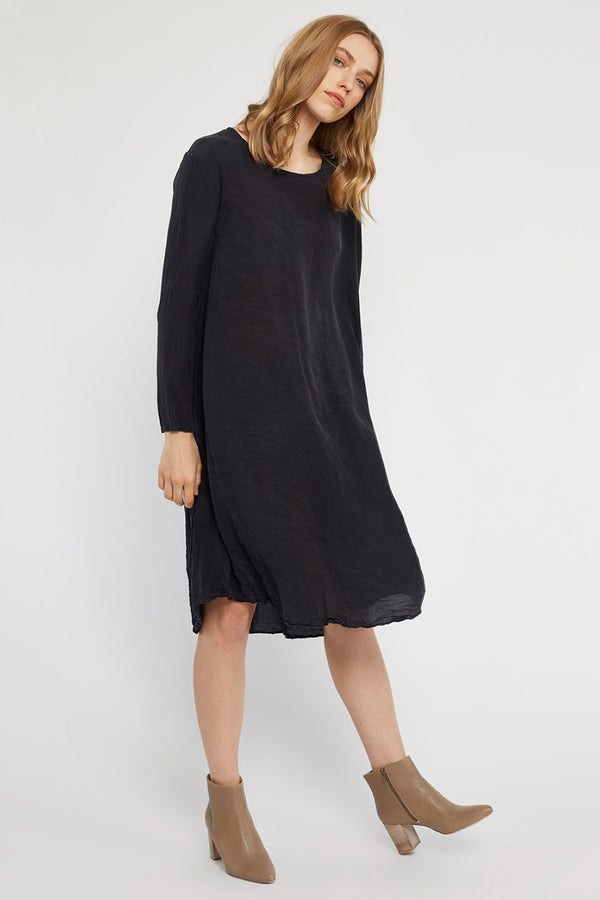 GIGI L/S DRESS - NOIR