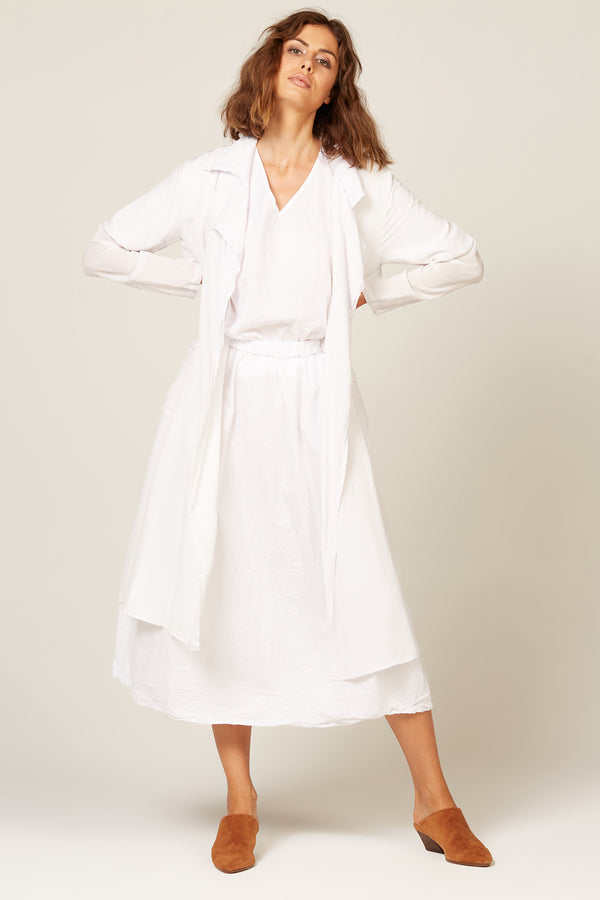 DUSTER COAT - BLANC - SIZE 1 LEFT