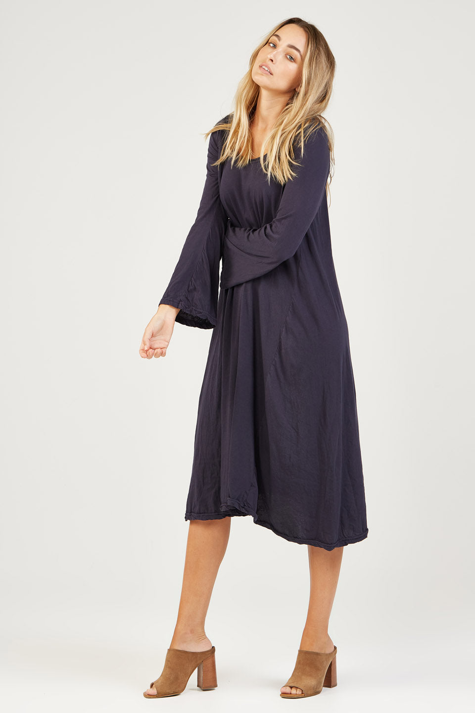 BELLA DRESS - BLUEY CHARCOAL