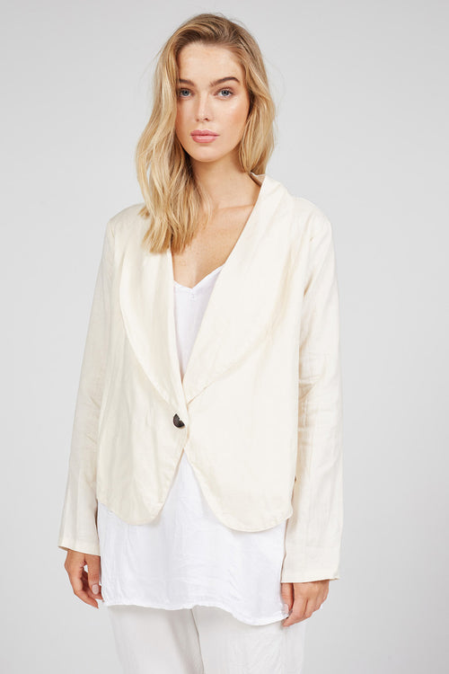 BOX JACKET - BEIGE