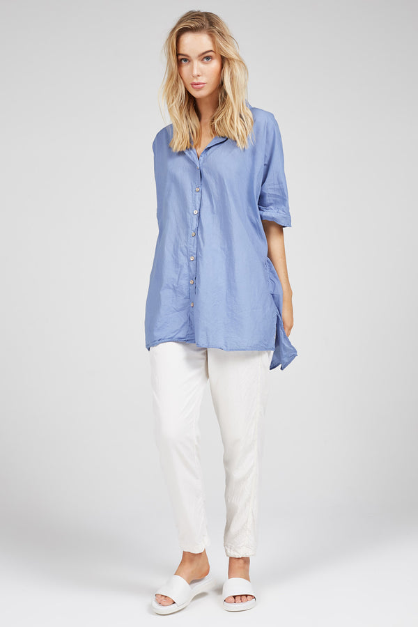DEVOILE SHIRT - OCEAN BLUE