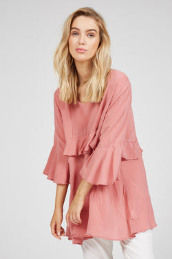 ZUKI TOP - SUNKISSED PINK