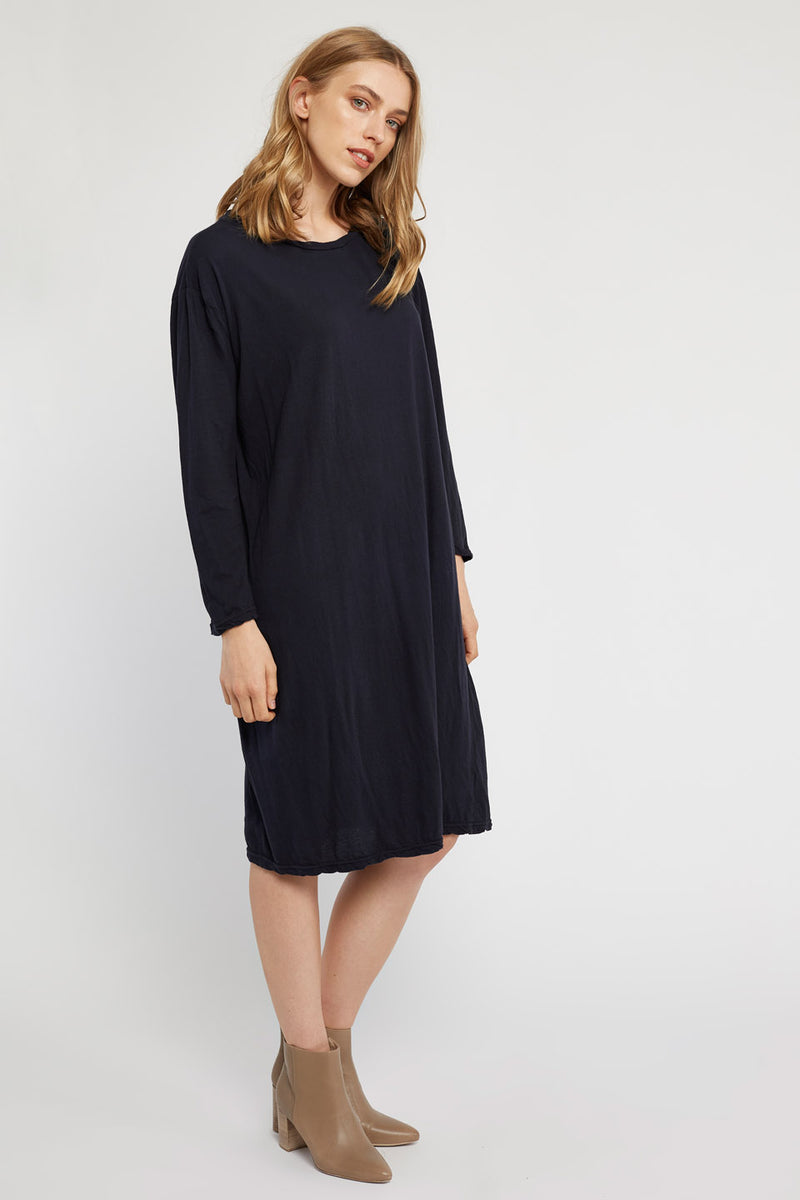 HAP L/S DRESS - DARK NAVY (FINAL SALE)