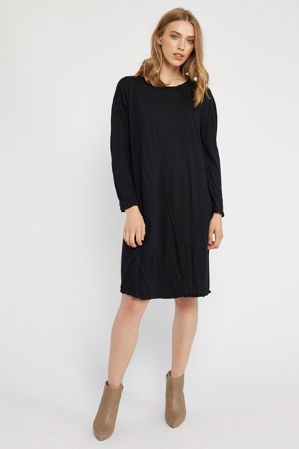 HAP L/S DRESS - NOIR