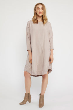 POCKET DRESS - NATURAL (FINAL SALE)