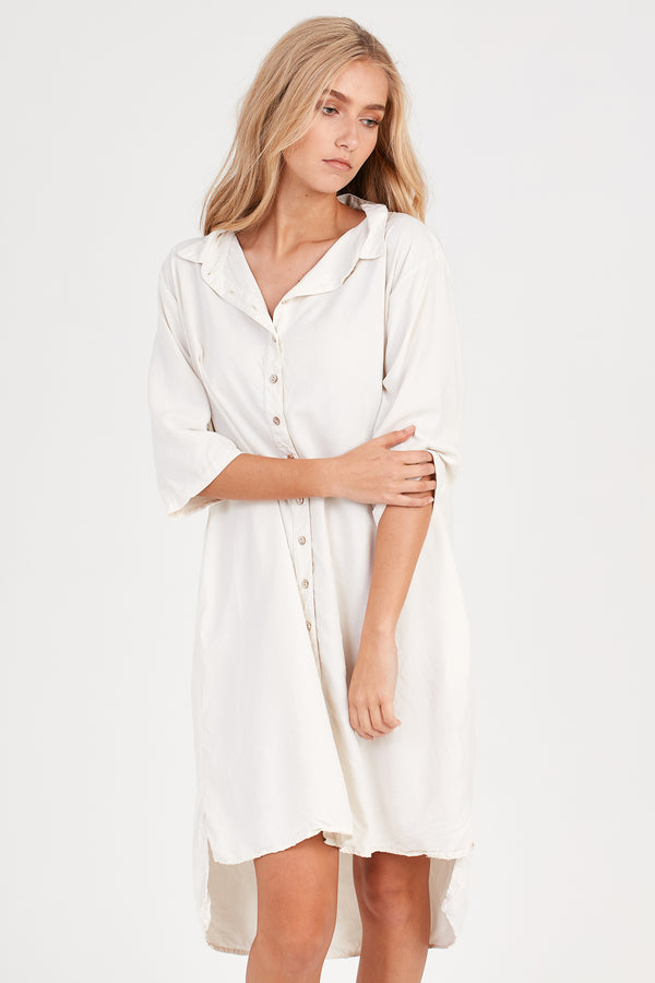 KUL SHIRT DRESS - CREAMY