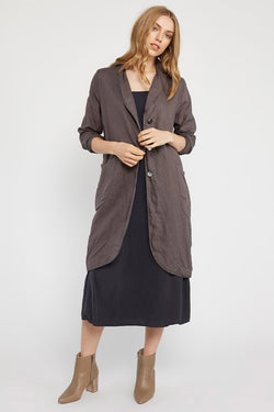 LONG LIN JACKET - WOODEN