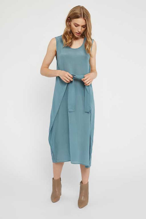 SIDDY TIE DRESS - LAGOON
