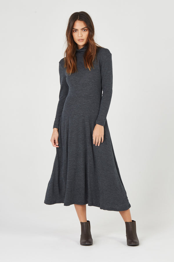 BOWIE DRESS - CHARCOAL