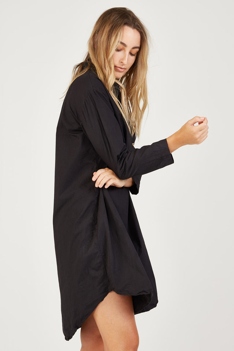 BINDIE SHIRT DRESS - NOIR
