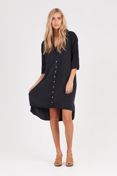 KUL SHIRT DRESS - NOIR