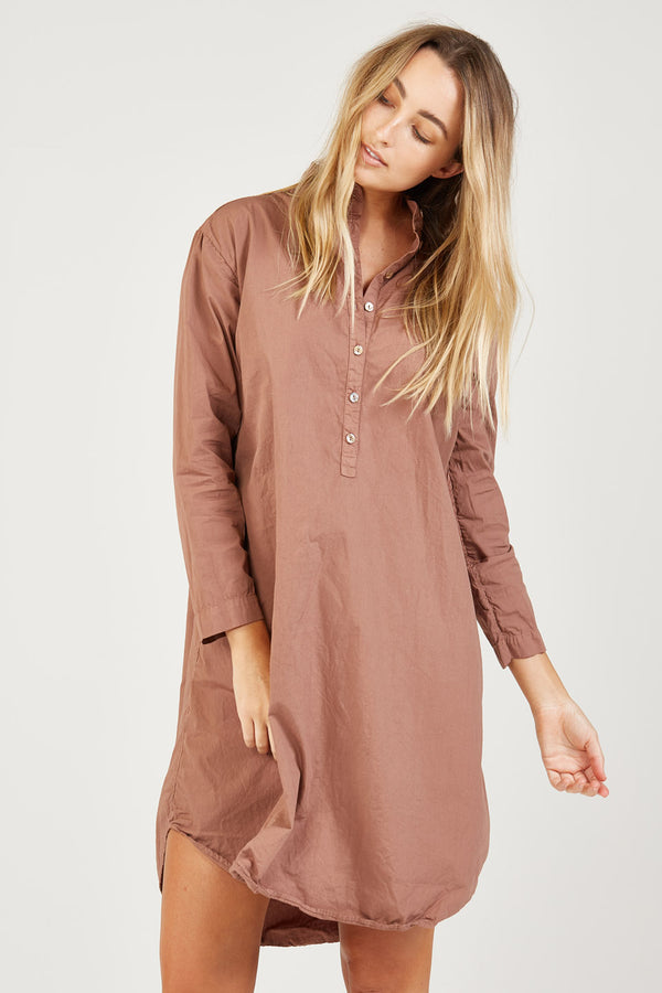 BINDIE SHIRT DRESS - CINNAMON