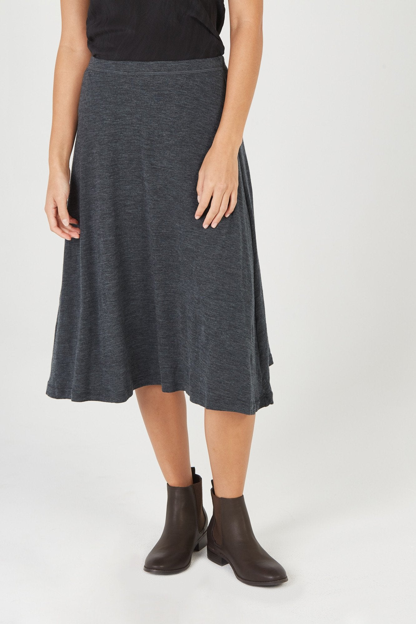 BOWIE SKIRT - CHARCOAL