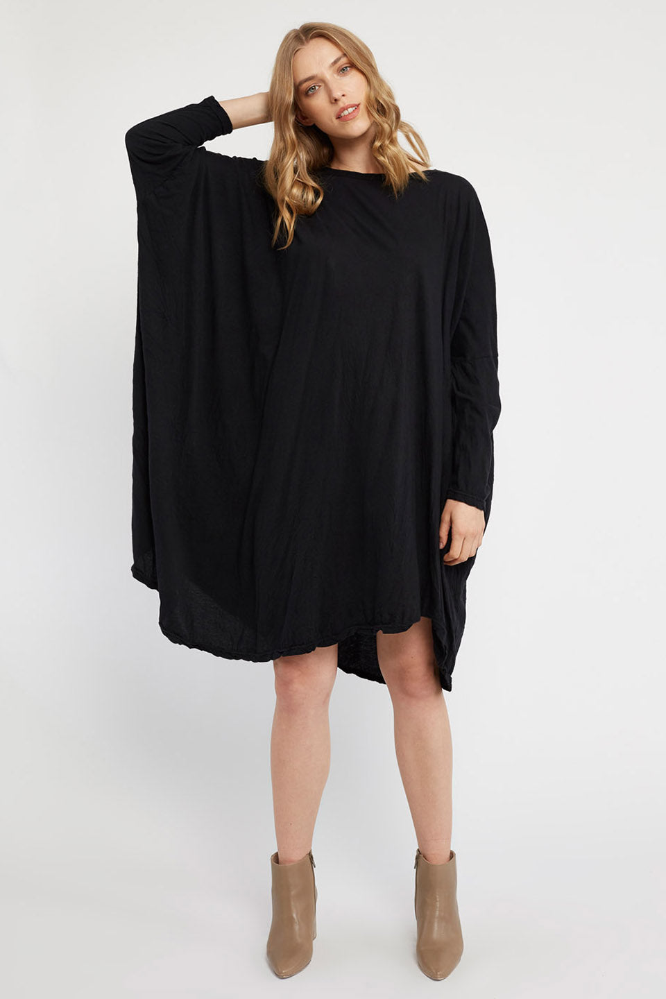 FAXI L/S DRESS - NOIR