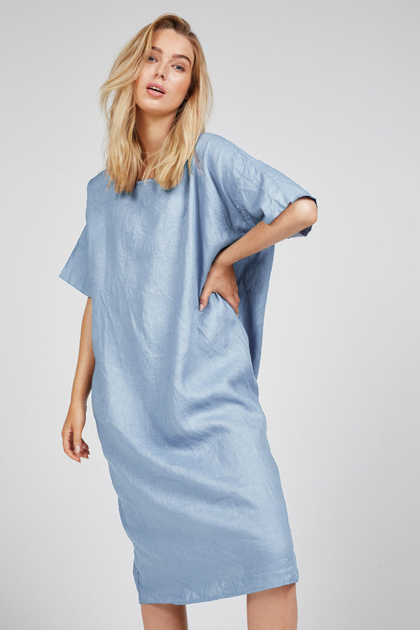 LIN DRESS - SKY BLUE