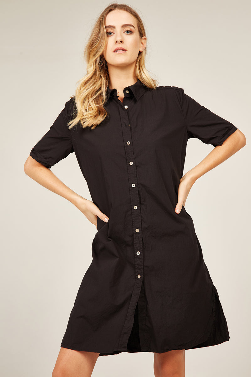 DENNI SHIRT DRESS - NOIR
