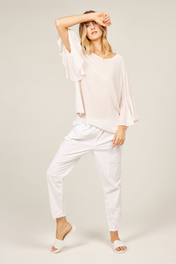 DAY DREAMER TOP - BLUSH PINK - SIZE 3 LEFT