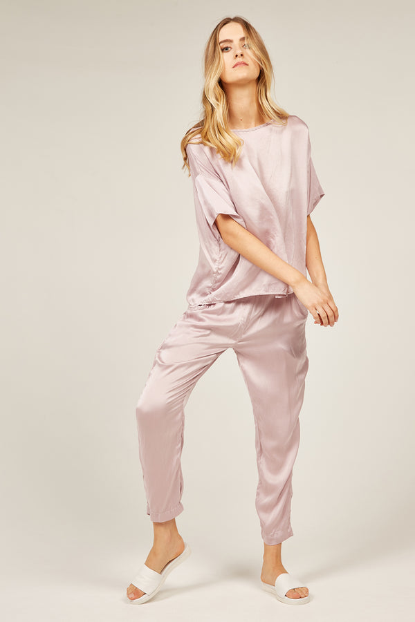 FLUID EVENING PANT - MAUVE