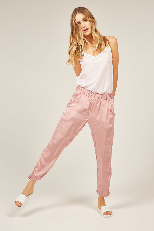 FLUID EVENING PANT - PINK CLAY