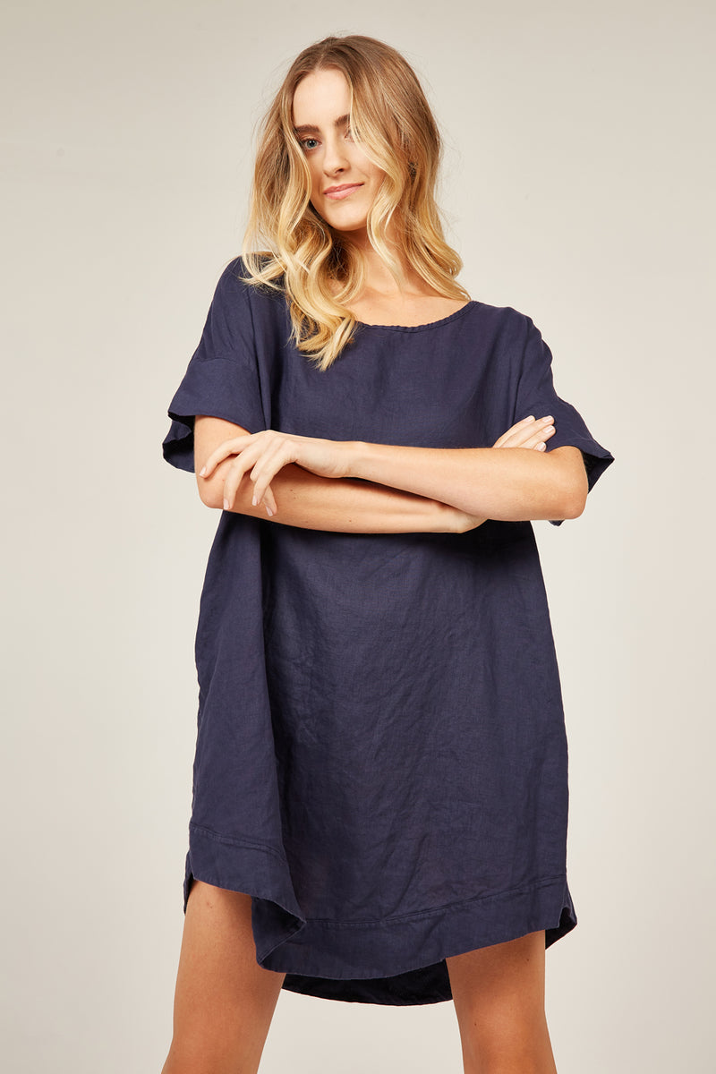 LYK DRESS - NAVY