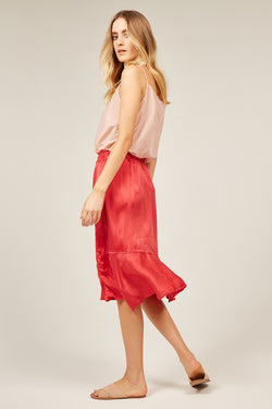 KISSES SKIRT - FESTIVE RED
