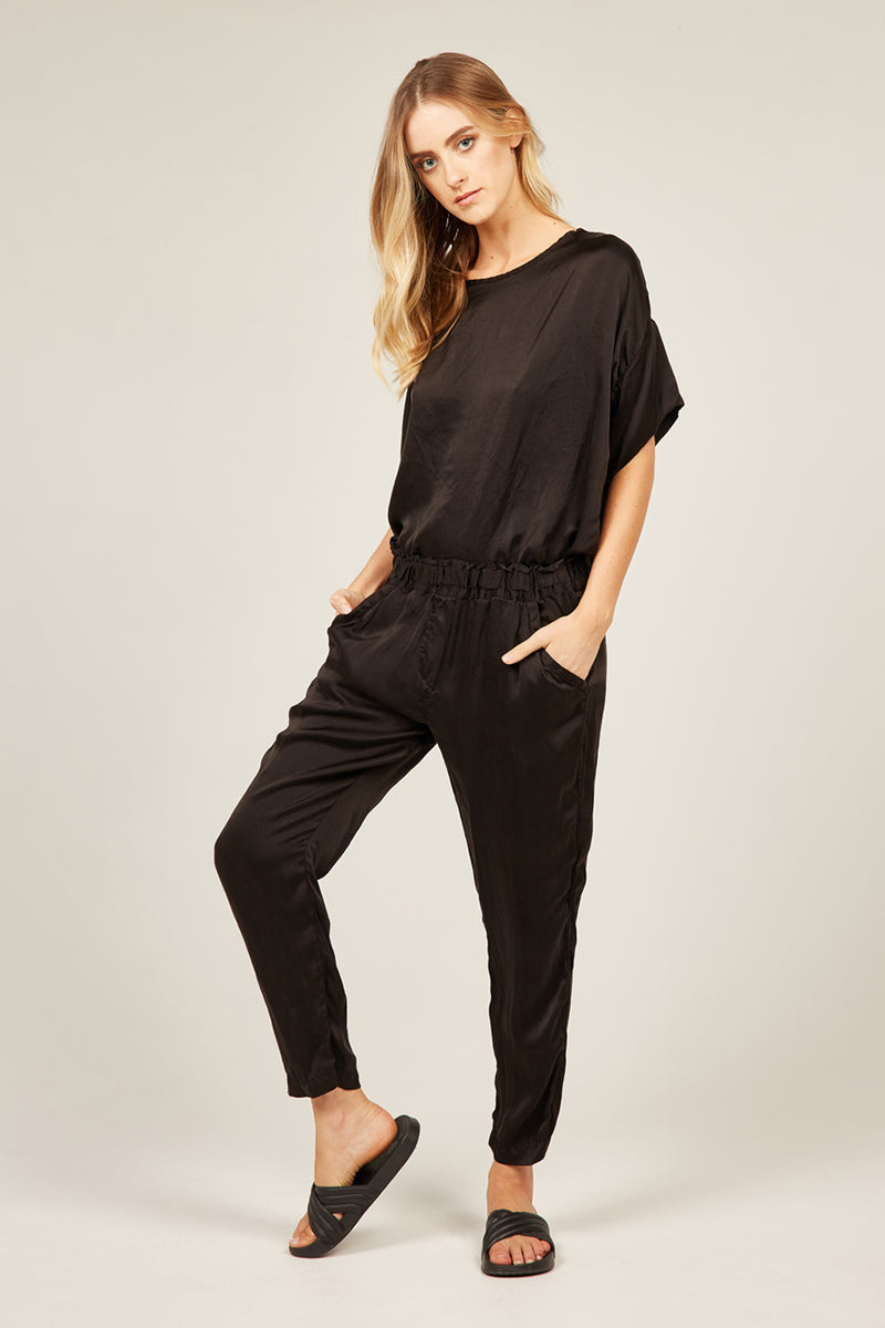 FLUID EVENING PANT - NOIR