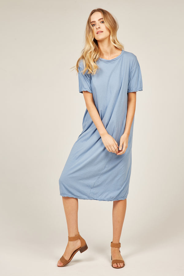 EVERYDAY TEE DRESS - SKY BLUE
