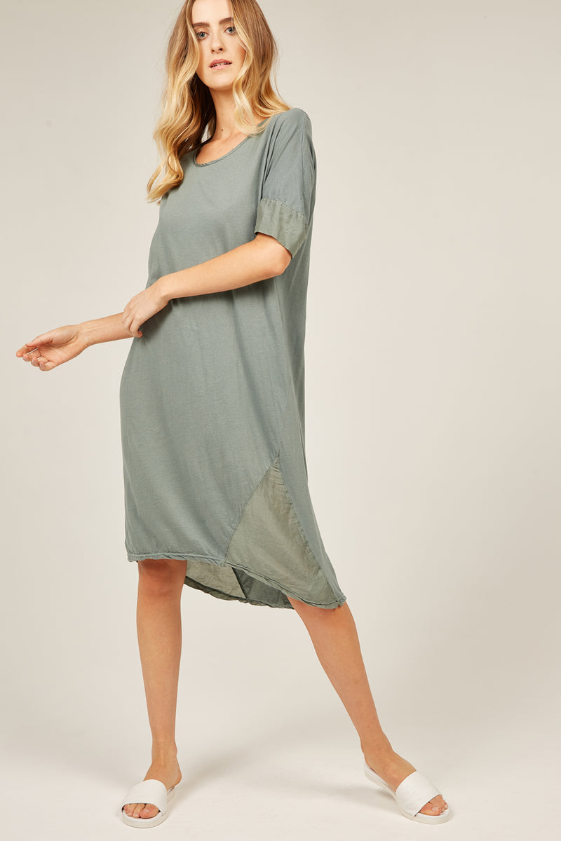 MINK TEE DRESS - JADE (FINAL SALE)